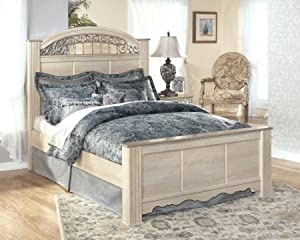 Traditional Classic Catalina King Bed In Champagne Color Finish