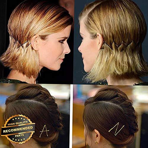 Gatton Premium New Hairpin Hair Pin Bobby Pin Clip Hairpin Wedding Gold Side Folder Accessories | Style ()