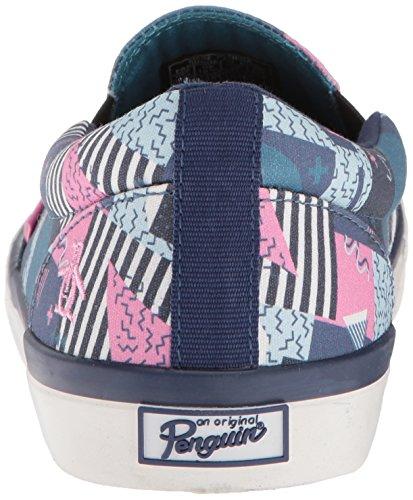 Sneaker Originale Da Uomo Pinguino Beckett Blu / Bianco / Rosa / Retro