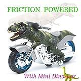 BigNoseDeer dinosaur motorcycle toys - animal friction motorcycles toys dinosaurs Tyrannosaurus T Rex 7.1