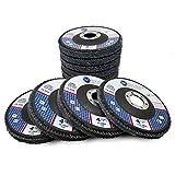 "4.5"" x 7/8"" Premium High Density Jumbo Zirconia Flap Disc - 10 Pack (Mixed Pack)"