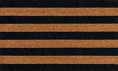 "Erin Gates by Momeni Park Stripe Hand Woven Natural Coir Doormat 1'6"" X 2'6"""
