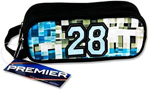 Premier Stationery C5616348 Varsity 28 - Estuche ovalado con 3 bolsillos y cremallera: Amazon.es: Oficina y papelería