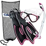 Cressi Palau Long Fins, Pink, XS/S | (Men's 2-4) (Women's 3-5)