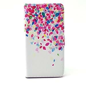 De piel de Beiuns funda con tapa tipo cartera funda rígida tipo libro para Alcatel activación con un solo botón uoogifts C9 de la cubierta, compatible con Alcatel One Touch Pop C9, color multicolor