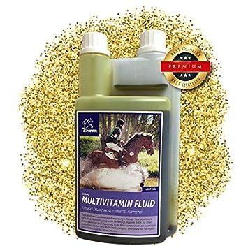 ⭐ EMMA Vitaminas para caballo - Multi líquido I alimentos suplementarios con multivitaminas y zinc, cambio de pelaje y convalecencia 1 Ltr.: Amazon.es: ...