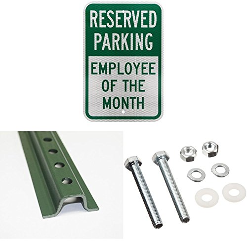 SmartSign 3M High Intensity Grade Reflective Sign, Legend Reserved Parking - Employee of The Month, 18
