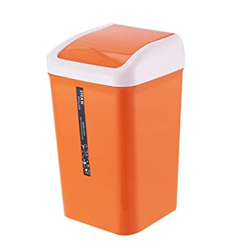 Amazon.com: Happiness Decoration Plastic Garbage Can with ...