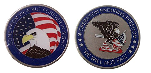 Operation Enduring Freedom Collectible Challenge Coin/ Logo Poker /Lucky Chip ()