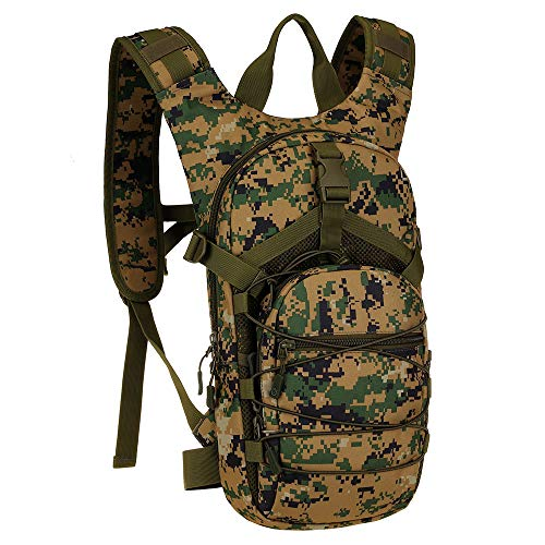 SINAIRSOFT 15L Hydration Pack, Cycling Backpack, 2.5L Water Bladder (No Included), Day Pack Perfect for Travel, Hiking, Camping, Running, Climbing ()