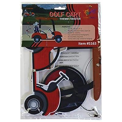 In the Breeze 5163 Golf Cart Theme Twister-Outdoor Garden Décor : Garden & Outdoor