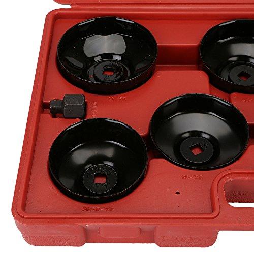 DIFEN Universal Oil Change Filter Cap Wrench Cup Socket Tool Set (14PCS/Set) by DIFEN (Image #4)