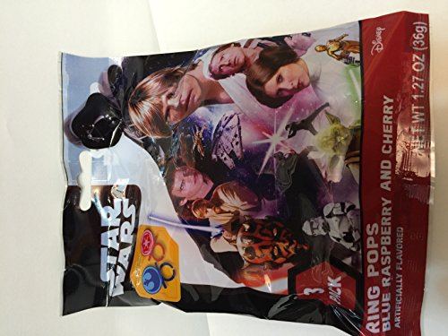 Disney Star Wars Ring Pops 3-pack (Star Wars Candy)