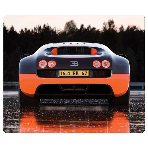 30x25cm / 12x10inch Mouse Mats accurate cloth nature rubber latest high technology computer Bugatti Veyron car logo - Bugatti Technology Veyron