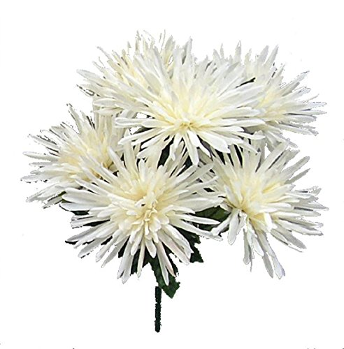 6 Spider Mums MANY COLORS Centerpieces Silk Wedding Flowers Bride Bouquets ()