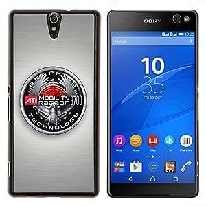 TECHCASE---Cubierta de la caja de protección para la piel dura ** Sony Xperia C5 Ultra ** --Insignia Gráficos