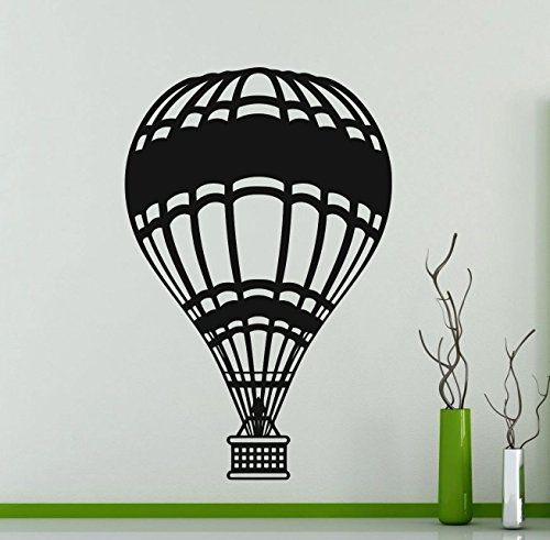 Hot Air Balloon Wall Decal Air Sports Vinyl Sticker Home Nursery Kids Boy Girl Room Interior Art Decoration Any Room Mural Waterproof Vinyl Sticker (151xx) (Day Send Balloons Same)