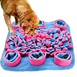 Ali Pet Snuffle Mat, Wooly Feeding Traing Mat, Dog Nosework Mat Thicken Anti-Slip Dog Feed Mat for Training and Stress Release, Encourages Natural Foraging Skills, Washer Safe