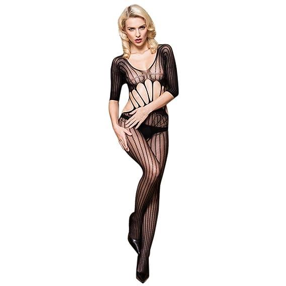 lenceria mujer erotica, AIMEE7 Mujeres Sexy Rose Medias Lencería Pijamas Tentación Ropa interior mono (A, talla única): Amazon.es: Ropa y accesorios