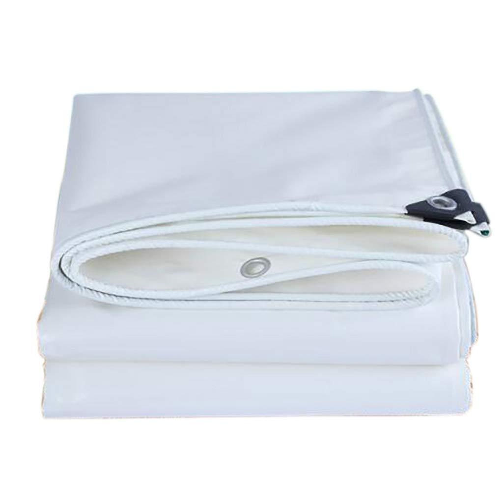 QYQPB Ultradünne und hellweiße PVC-Messer kratzt Tuch wasserdicht Sonnencreme Plane Regen Tuch Schwein Bauernhof gewidmet (größe   2  4m)