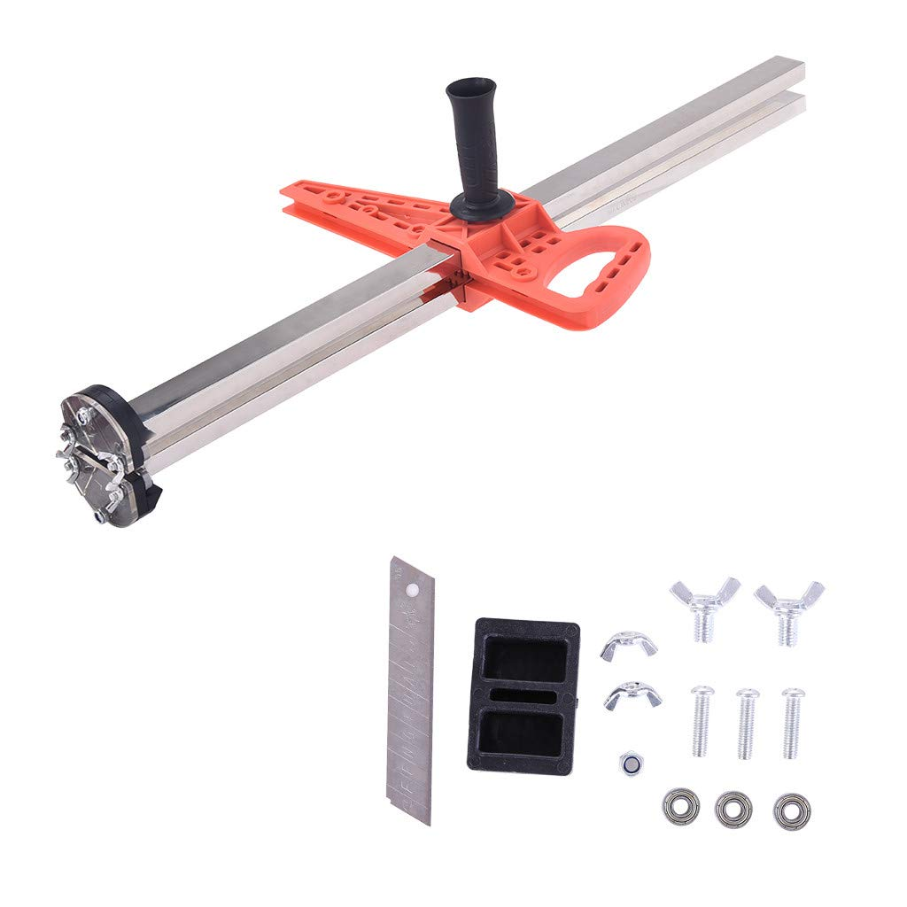 Drywall Ripping Tool, with Double Blade - Cut Fast, Even Strips up to 28.5 Inches, Manual Gypsum Board Cutter Hand Push Drywall Artifact Tool 0.8-23.6 Inches Cutting (Multicolor)