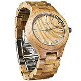 JORD Wooden Wrist Watches for Men or Women - Fieldcrest Series / Wood Watch Band / Wood Bezel / Analog Quartz Movement - Includes Wood Watch Box (Koa & Burl)