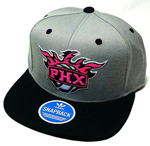 adidas Phoenix Suns PHX NBA Neon New Vibe Gray Pink Black Snapback Era Hat - Hat Suns Phx