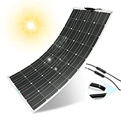 Flexible Solar Panel MOHOO 100W 18V 12V Ultra Thin Lightweight Cells Solar Charger with MC4 Connectors for RV Boat Cabin Tent Car (Compatibility with 18V and Below Devices)(Updated)