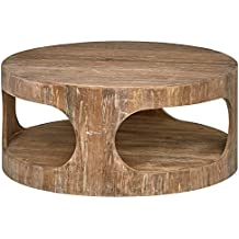 "Stone & Beam Miramar Cutout Coffee Table, 39.4"" D, Natural"