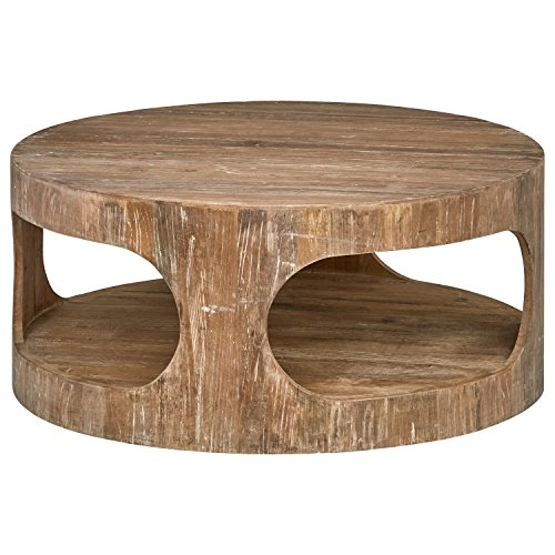 (Stone & Beam Miramar Elm Wood Cutout Coffee Table, 39.4
