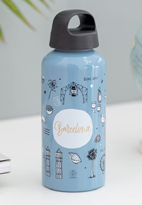 Mr. Wonderful Sketch The World Barcelona Botella, Aluminio, Blanco ...