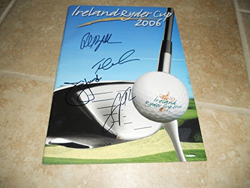 2006 Ryder Cup - 2006 Ireland Ryder Cup Signed Program x 4 Mickelson Lehman Furyk & Verplank - Golf Autographed Miscellaneous Items