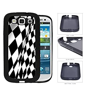 Black And White Checkered Racing Flag Rubber Silicone TPU Cell Phone Case Samsung Galaxy S3 SIII I9300