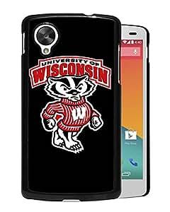 NCAA Wisconsin Badgers 2 Black Customize Google Nexus 5 Phone Cover Case