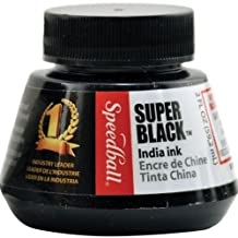 Speedball Art Products 2-Ounce India Ink, Super Black
