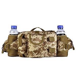 Huntvp Tactical Waist Pack Bag With Water Bottle Pocket Holder Military Fanny Packs Waterproof Hip Belt Bag Pouch for Hunting Camping Trekking