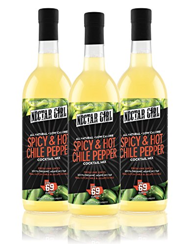 Nectar Girl All-Natural Low Calorie SPICY & HOT CHILE PEPPER Mixer, 3 PACK