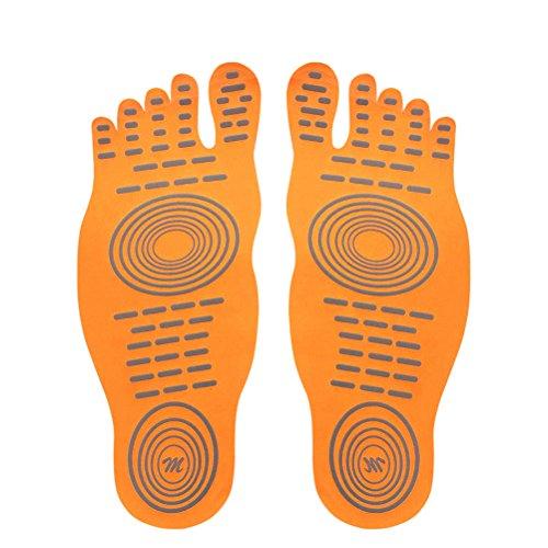 Surf D 1 Aux Antidérapant Pieds Nus Stick Intérieure Semelle Le Orange Chaussettes Piscine Pour Paire Footpad Sur Semelles Plage Dd amp;d aw8HrqSa