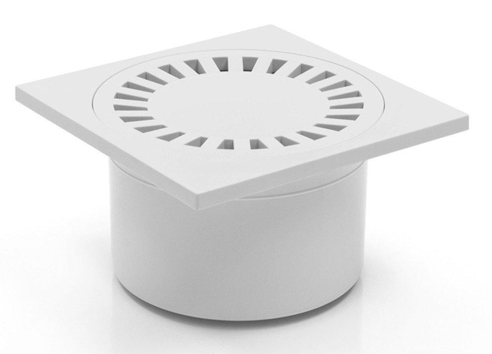 321/P Bonde de douche de bain de sol 150/x 150/mm DN 50/Blanc
