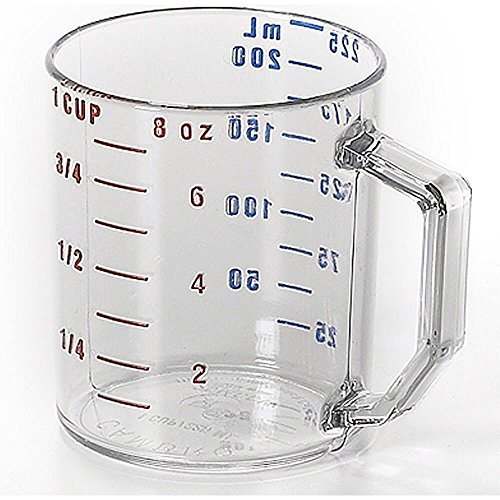 Cambro 25MCCW135 Camwear Measuring Cup 1 cup dry measure clear - Case of 12