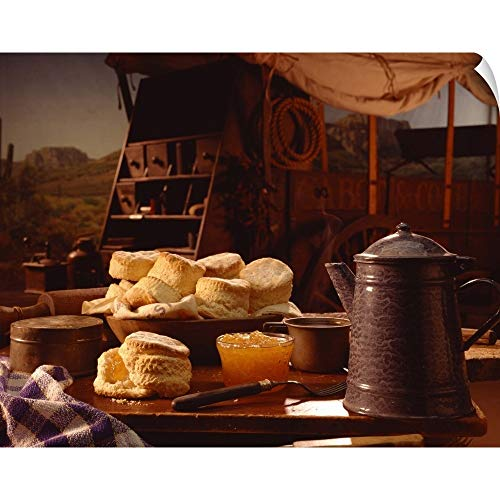 Chuck Wagon Coffee - Biscuits and Coffee on Chuck Wagon Wall Peel Art Print, 20
