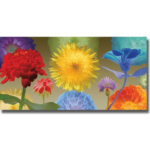 Artistic Home Gallery 2448AM103 Sunflower Fireworks by Robert Mertens Premium Oversize Stretched Canvas (Ready to Hang) from Artistic Home Gallery