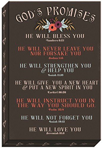 - Carpentree God's Promises Canvas Wall Art, 10 x 15