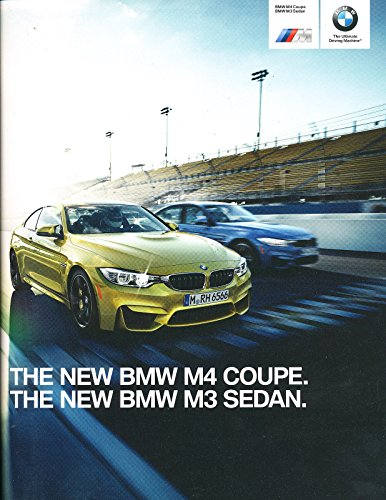 2015 BMW M3 and M4 Coupe 40-page Original Car Sales Brochure Catalog (Brochure Sales Bmw)