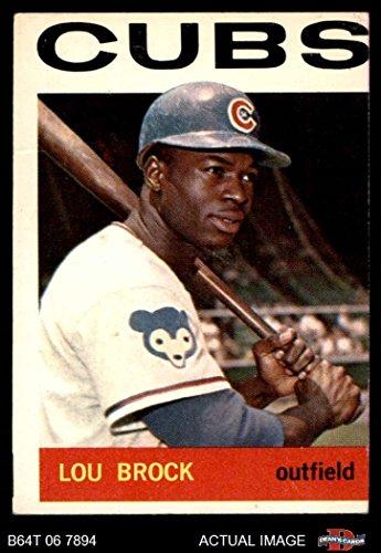 Lou Brock Baseball Card (1964 Topps # 29 Lou Brock Chicago Cubs (Baseball Card) Dean's Cards 2 - GOOD Cubs)