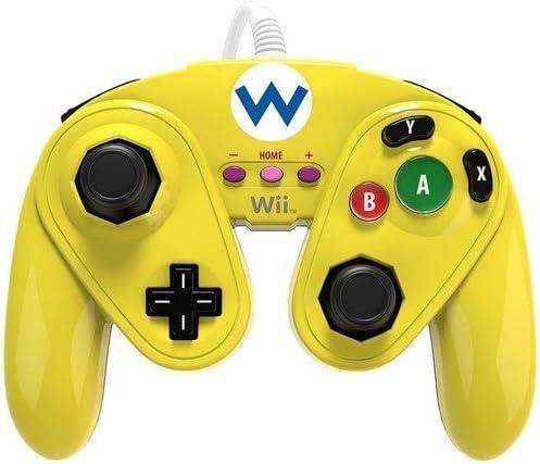 PDP - Mando Fight Pad Con Cable, Diseño De Wario (Nintendo Wii U ...