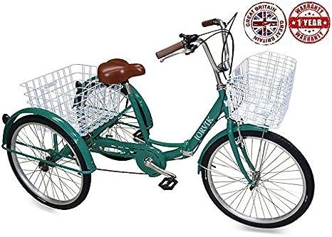 Jorvik Triciclo para adultos, ligero, de aluminio, con grandes ...