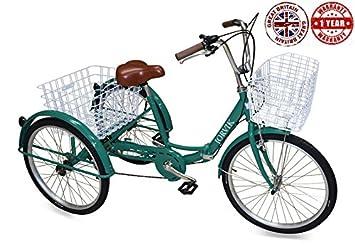Jorvik Triciclo para adultos, ligero, de aluminio, con grandes ruedas de 26 pulgadas, varios colores disponibles, hombre mujer, verde: Amazon.es: Deportes y ...