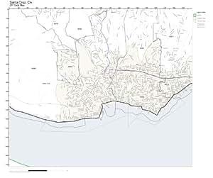 Amazon.com: ZIP Code Wall Map of Santa Cruz, CA ZIP Code ...
