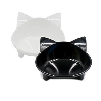 MONEIL - Cuencos para Gatos de melamina, Platos para Gatos ...